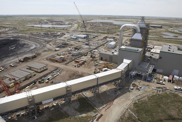 Flue gas ducting installed at the Boundary Dam carbon capture project near Estevan, Sask. PHOTO SaskPower