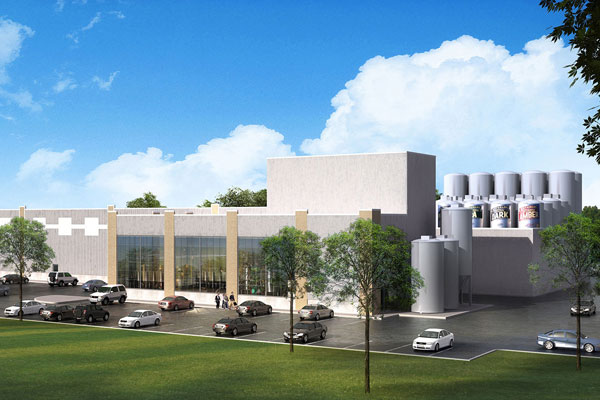 A rendering of Brick Brewing's expanded facility in Kitchener, Ont. PHOTO Brick Brewing