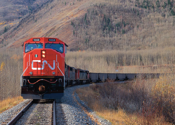 A CN train near Grande Cache, Alta. PHOTO CN