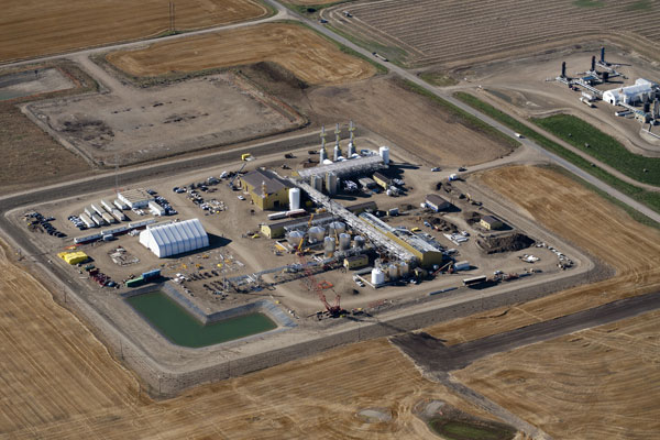 Husky's Pikes Peak South oil site in Saskatchewan. PHOTO Husky Energy