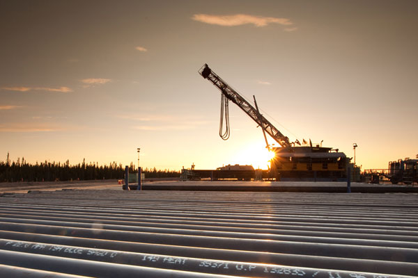 Genalta Power's Cadotte Peace River Power Generating Facility diverts flare gas and turns it into electricity. PHOTO Husky Energy
