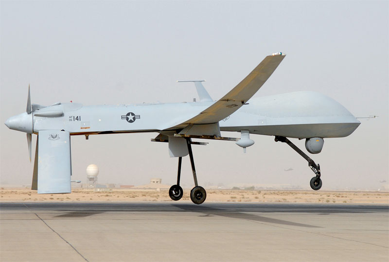 The MQ1 Predator is an armed, multi-mission, medium-altitude, long-endurance remotely piloted aircraft . PHOTO: CAE