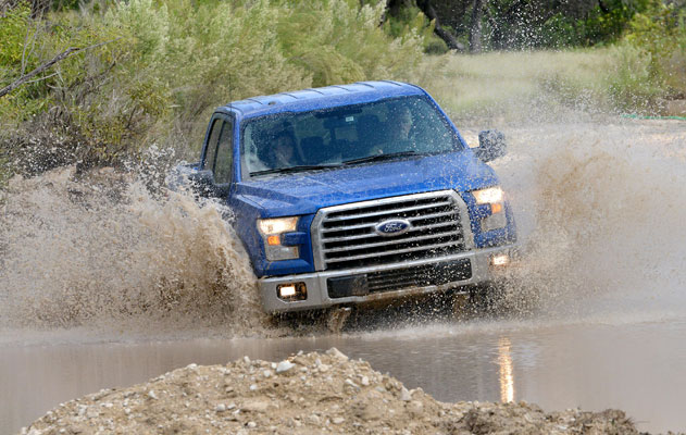 The 2015 Ford F-150 features available LED headlights. PHOTO Ford