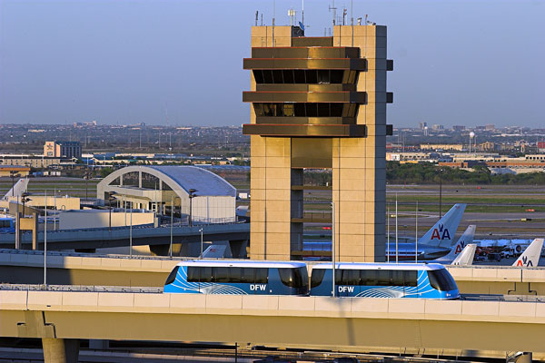 Bombardier's INNOVIA automated people mover runs at Dallas/Fort Worth International Airport. PHOTO Bombardier