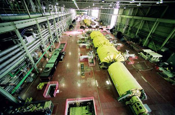 The 'A' turbine hall at Bruce nuclear in Tiverton, Ont. PHOTO Bruce Power