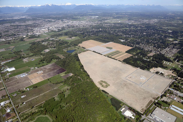 An aerial view of the Campbell Heights North industrial park in Surrey, B.C. PHOTO SCDC