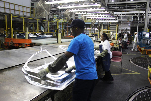 GM's metal forming plant in Pontiac, Mich. PHOTO GM