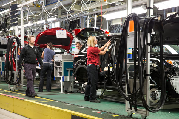 Toyota's plant in Woodstock, Ont. PHOTO Toyota