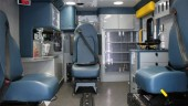 An ambulance built by Crestline Coach for Essex-Windsor EMS features Ferno Acetech informatics and monitoring modules used for monitoring seat belt use. PHOTO Crestline