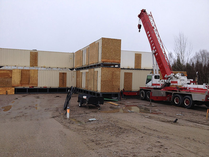 The Days Inn in Sioux Lookout, Ont., is North America's largest shipping container-based hotel. PHOTO Ladacor