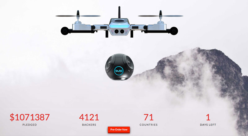 This screen capture of Plexidrone's crowdfunding effort shows the campaign has far exceeded its $115,000 target