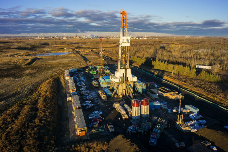 Salt cavern drilling at ATCO's Heartland Energy Centre near Fort Saskatchewan, Alta. PHOTO ATCO