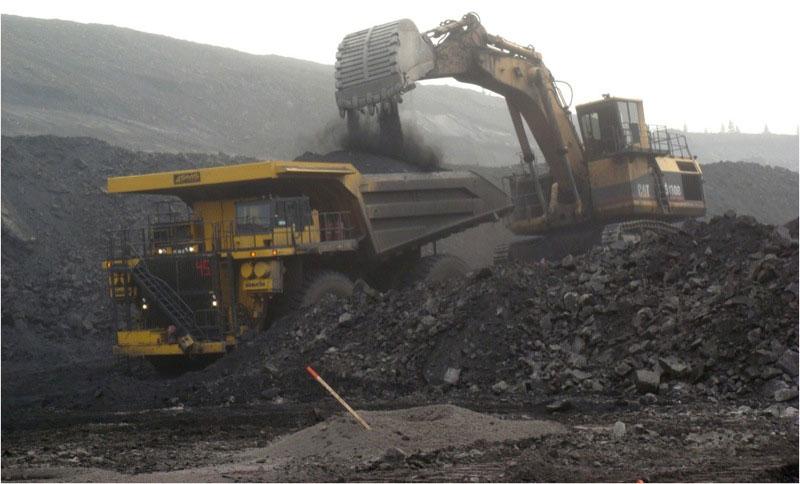 Grande Cache Coal's open pit mining operation in western Alberta. PHOTO Grande Cache Coal