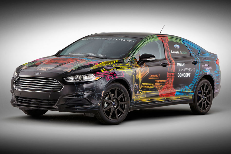 Ford and Magna's multi-material lightweight vehicle concept. PHOTO Ford