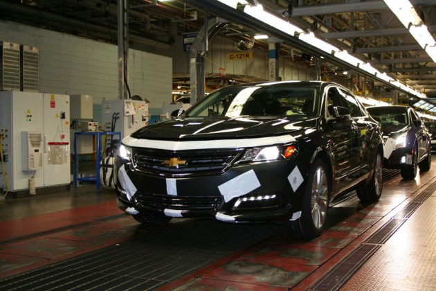 Chevy Impala on the line at GM Canada's assembly plant in Oshawa, Ont. PHOTO GM