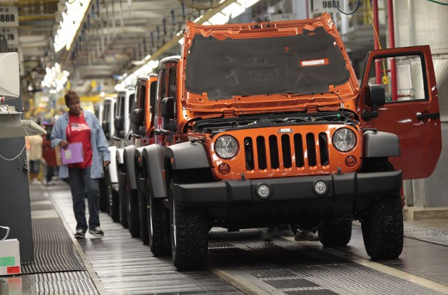 Fiat Chrysler Automobiles is considering shifting production of the Jeep Wrangler out of Toledo, Ohio. PHOTO FCA