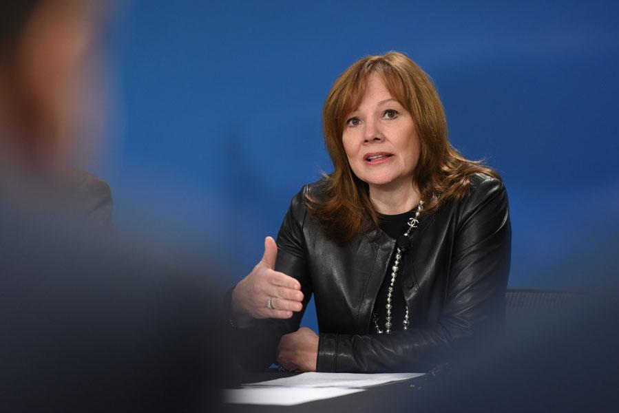 General Motors chief executive Mary Barra. PHOTO GM