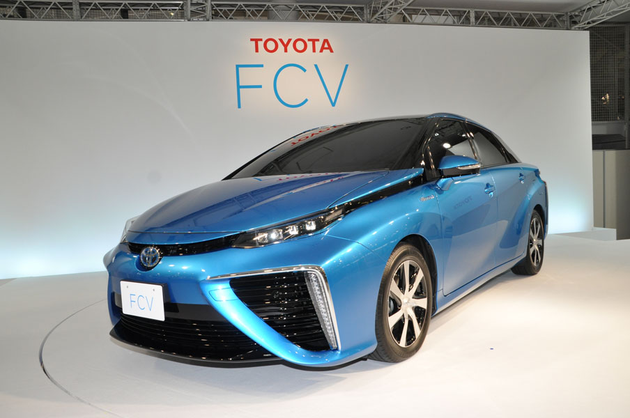 Toyota is opening thousands of fuel cell vehicle patents for industry use royalty-free. PHOTO Toyota