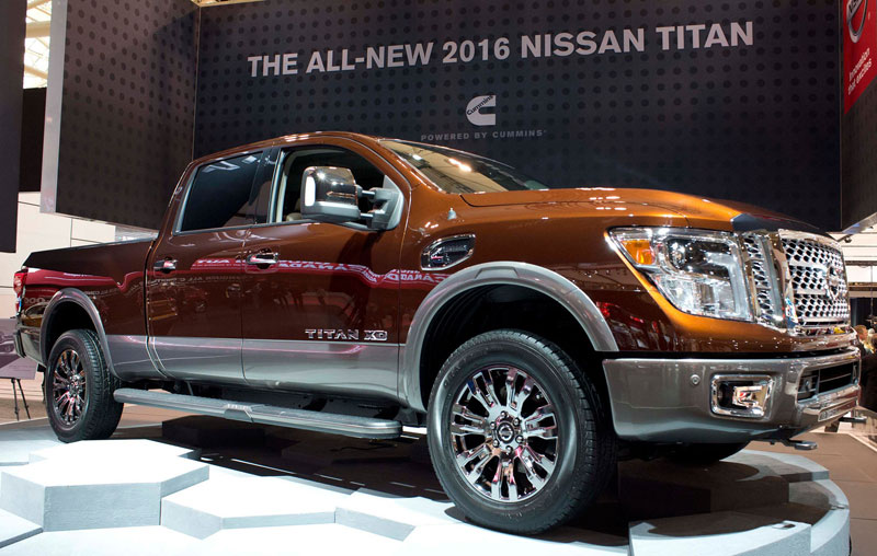 Nissan Diesel Truck >> Nissan unveils 2016 Titan pick-up truck at CIAS - Canadian Manufacturing
