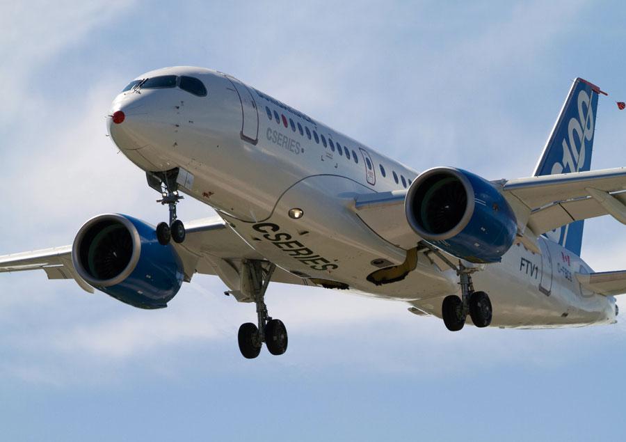 Bombardier's CSeries aircraft. PHOTO Bombardier