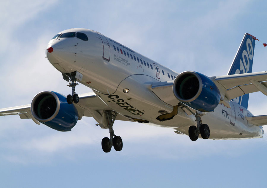 Bombardier's CSeries aircraft. PHOTO Bombardier