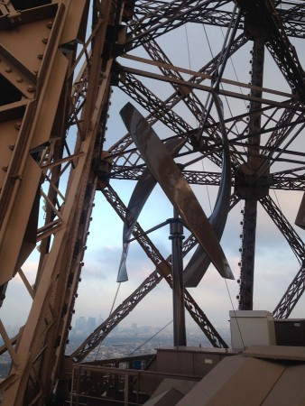 The Eiffel Tower now features two wind turbines that generate enough electricity to power its first-floor commercial areas. PHOTO UGE