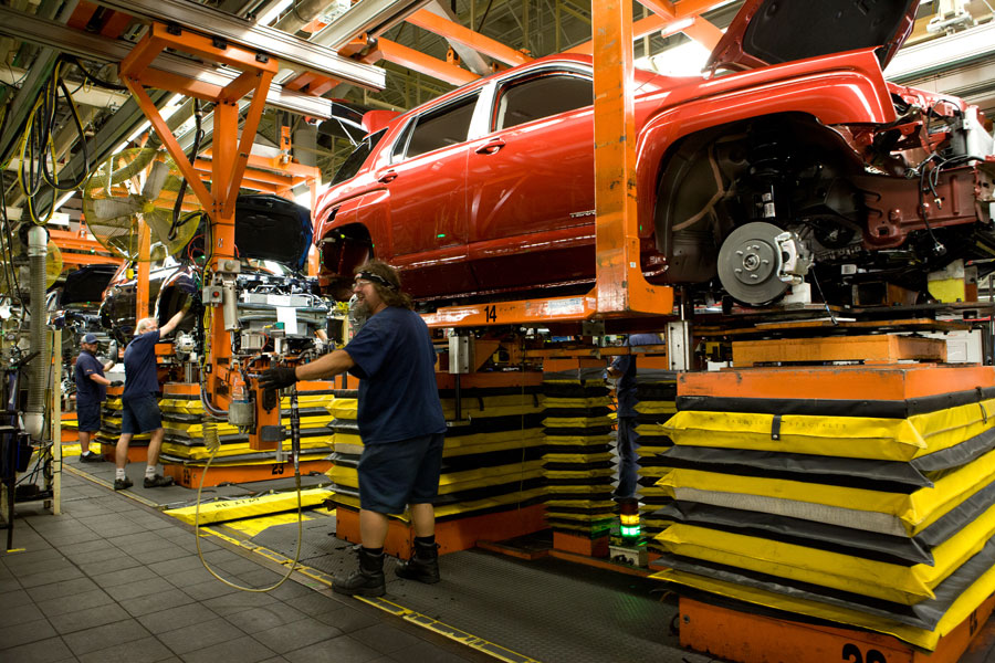 GM's CAMI assembly plant in Ingersoll, Ont. PHOTO GM