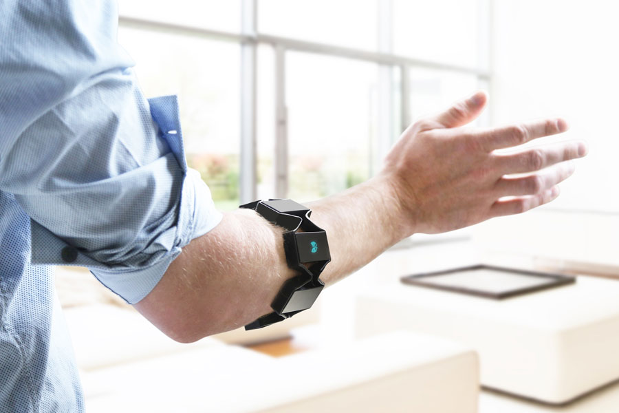 The Myo armband by Thalmic Labs. PHOTO Thalmic Labs
