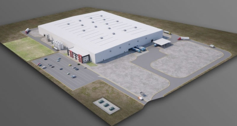 Magna's 26,400-square-meter facility will employ 600 people. PHOTO: Magna Intl.
