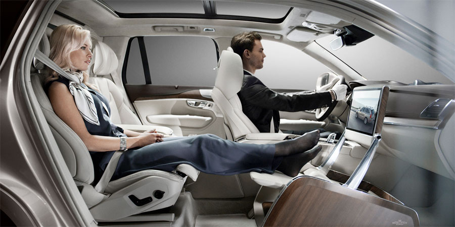 Removing the passenger seat created an open space that dramatically changes the dynamics of the interior. PHOTO: Volvo Car Corp.