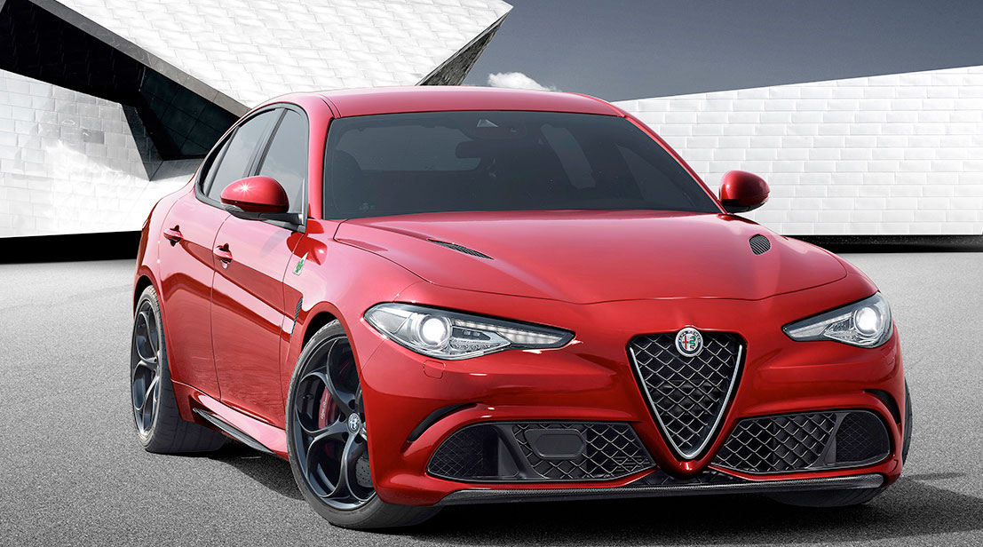 The Giulia sedan features a six-cylinder 510 HP engine inspired by Ferrari technologies, the brand's new powertrain reference. PHOTO: Fiat Chrysler Automobiles N.V.