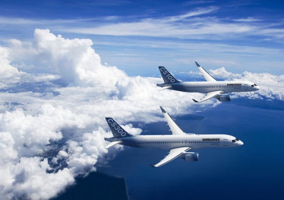 Bombardier's CSeries aircraft made their public debut in Paris. PHOTO Bombardier Inc.