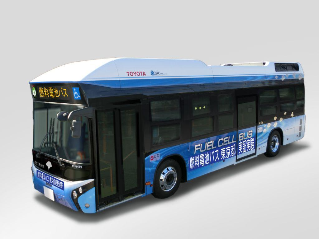 Toyota and Hino to test hydrogen fuel cell buses on Toyko bus routes