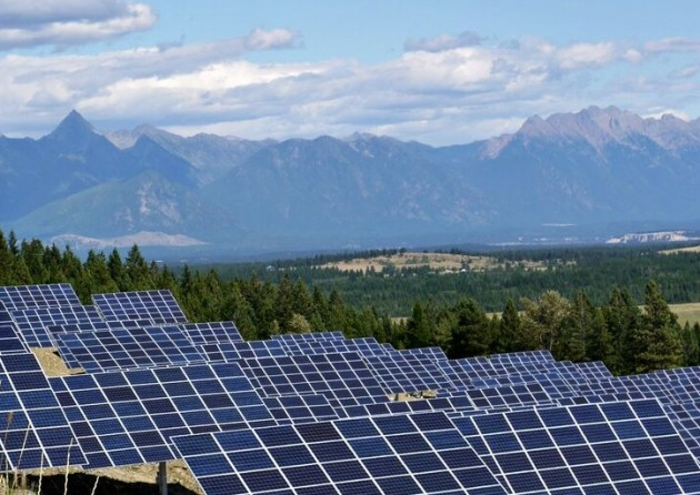 The largest solar project B.C. has commenced operations. PHOTO: CNW Group/City of Kimberley