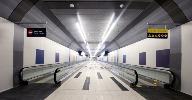 Toronto's new pedestrian tunnel will utilize 100 per cent green energy from Bullfrog Power. PHOTO: CNW Group/PortsToronto