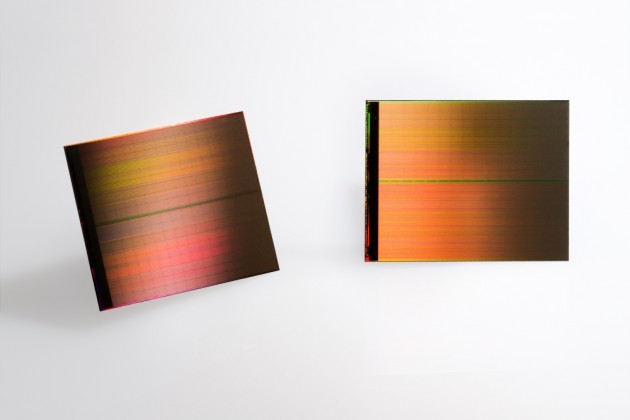 The first new memory category in 25 years, 3D Xpoint technology wafers are currently running in production lines at Intel Micron Flash Technologies. PHOTO: Intel