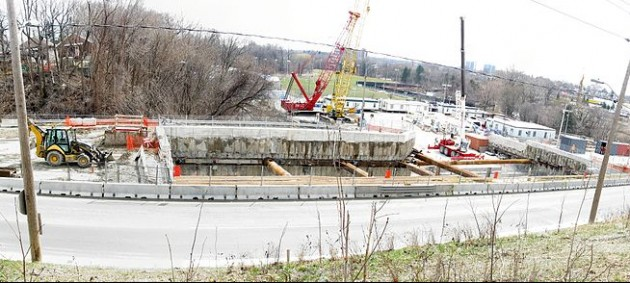 Eglinton Crosstown construction at Black Creek Drive. PHOTO: Geo Swan, Via Wikimedia Commons