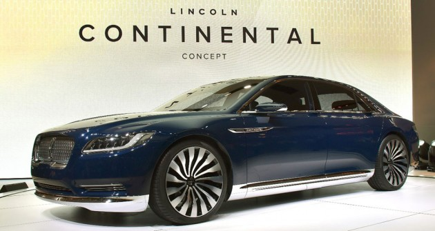 This concept version of the newest Lincoln Continental luxury sedan was unveiled at the New York International Auto Show 2015. PHOTO: Sam VarnHagen