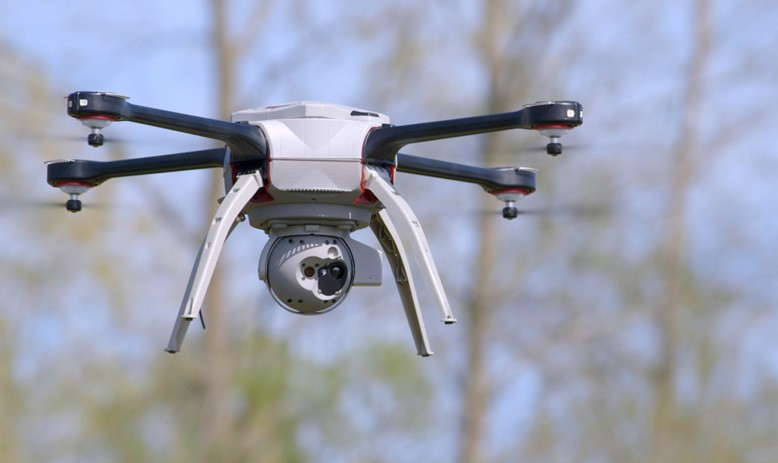 York Regional Police have been using their Aeryon Skyranger as a security measure to ensure venues are clear before fans attend events. PHOTO: Aeryon Labs