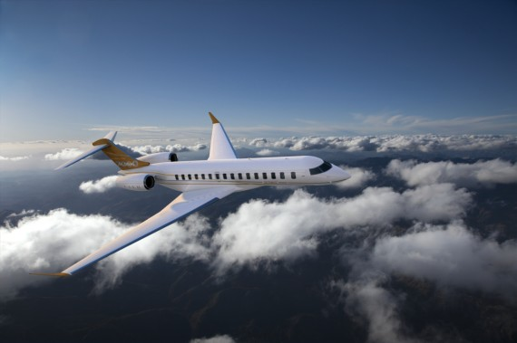 Exterior of Bombardier's Global 7000. PHOTO Bombardier