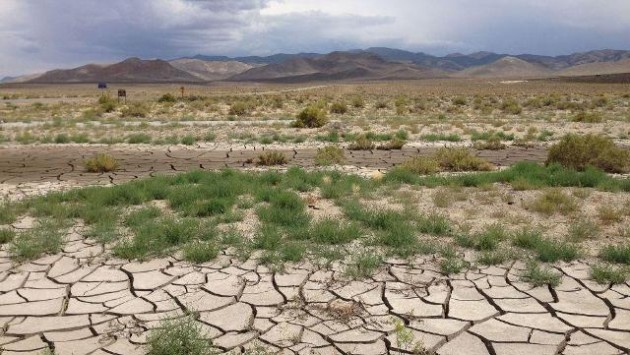 Cracked earth in Nevada. The western U.S. has experienced some of the worst droughts in its history in recent years. PHOTO: Famartin, via Wikimedia Commons