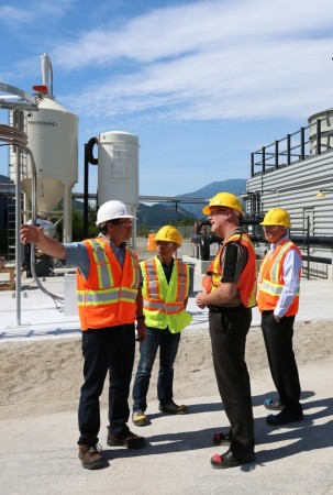 Carbon Engineering's demonstration project in Squamish, B.C. will be capable of scrubbing 2 tons of CO2 from the air daily. PHOTO: Carbon Engineering