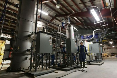 Inside Carbon Engineering's carbon scrubbing plant. PHOTO: Carbon Engineering