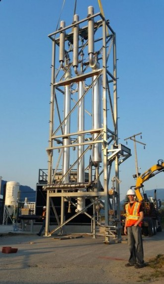Construction underway at the Squamish facility. PHOTO: Carbon Engineering