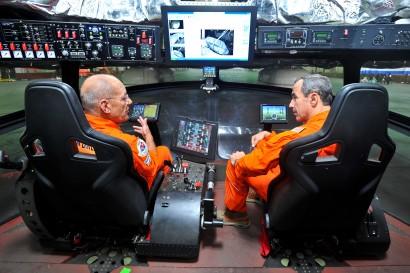Crew preparation in the cockpit of Aeros's Dragon Dream. PHOTO: Aeros
