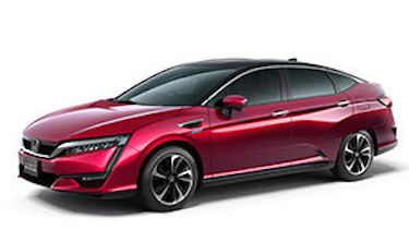 Honda will introduce the Clarity Fuel Cell in Japan and expects sales to sequentially evolve in Europe and North America. PHOTO: Honda