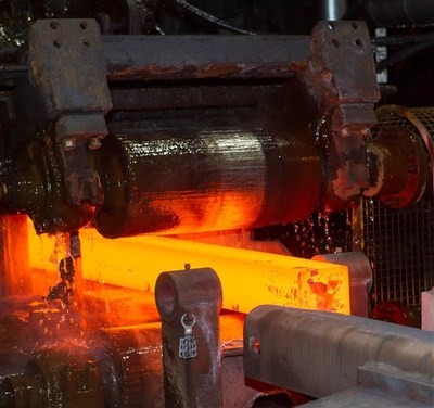 Steel rolling operations at the ArcelorMittal Montreal's Longueuil bar mill. The operations will be upgraded with the $27 million investment. PHOTO:CNW Group/ArcelorMittal Montréal