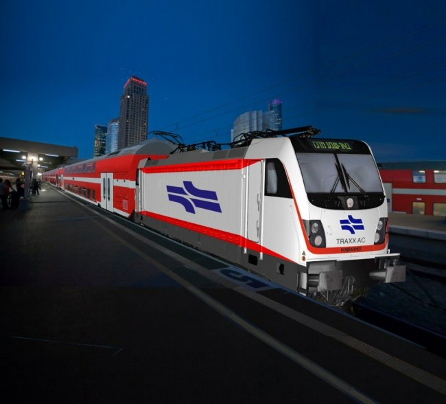 Bombardier's TRAXX AC locomotive. The design will replace existing the company's 369 diesel models already in use in Israel. PHOTO: Bombardier