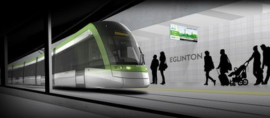 Artist rendering of Toronto's Eglinton Crosstown, one of the major ongoing Ontario infrastructure projects. PHOTO: Canadian Council for Public-Private Partnerships