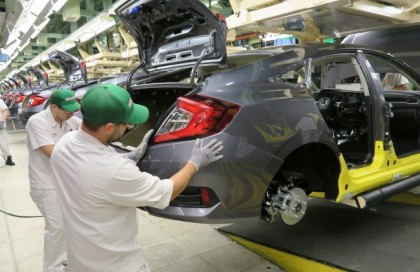 2016 Honda Civic production at Plant 1 of Honda's Alliston facility. PHOTO: Honda